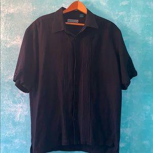 Men's classic  linen Cubavera shirt